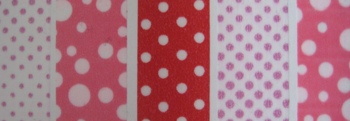 colorful dotted washi masking tape