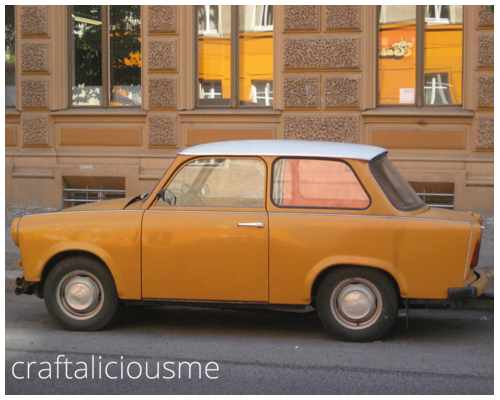 orange trabant in Berlin