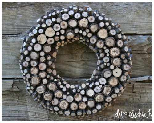 advent wreath wood