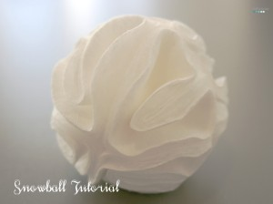 snowball made of cotton pads tutorial
