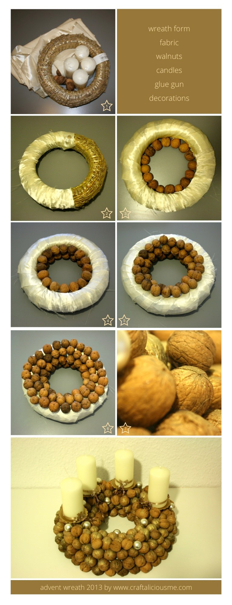 walnut advent wreath tutorial