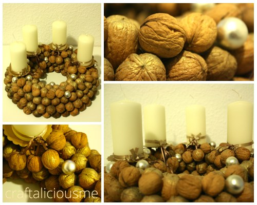 walnut advent wreath