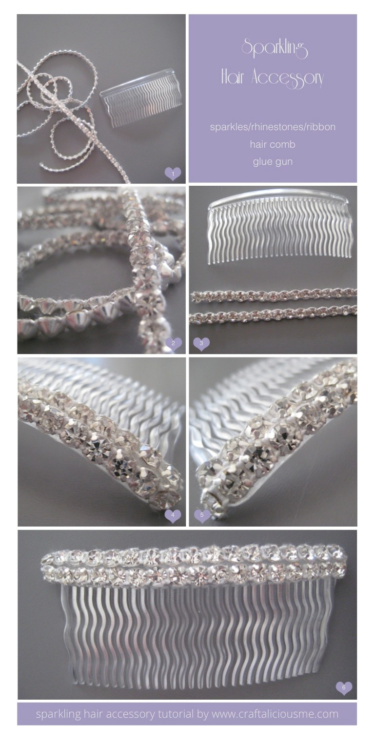 sparkling hair accessory tutorial