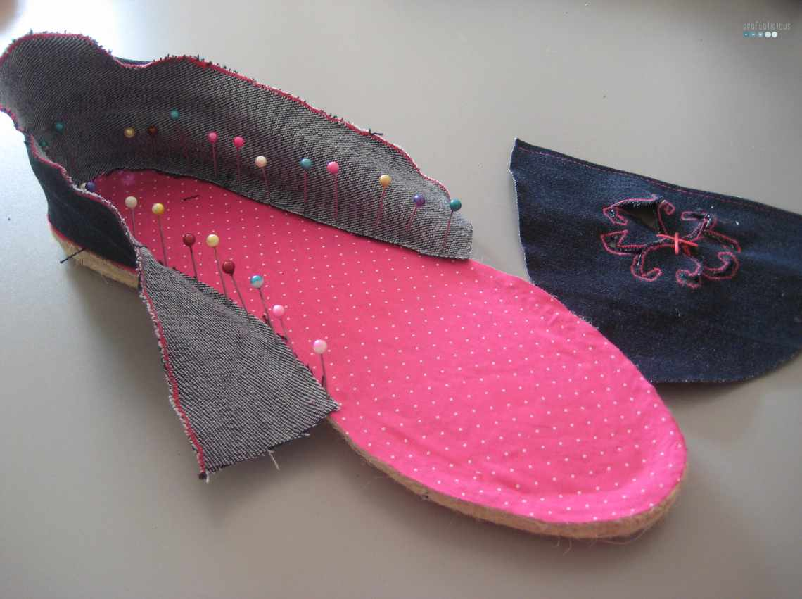 denim espadrilles step 2