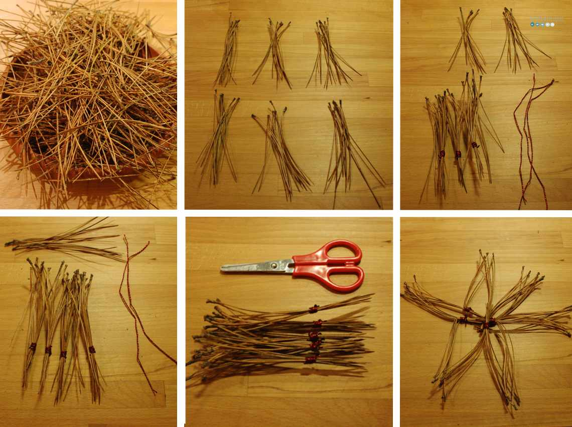 DIY Pine Needle Star
