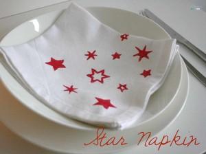 gift idea hand stamped napkin