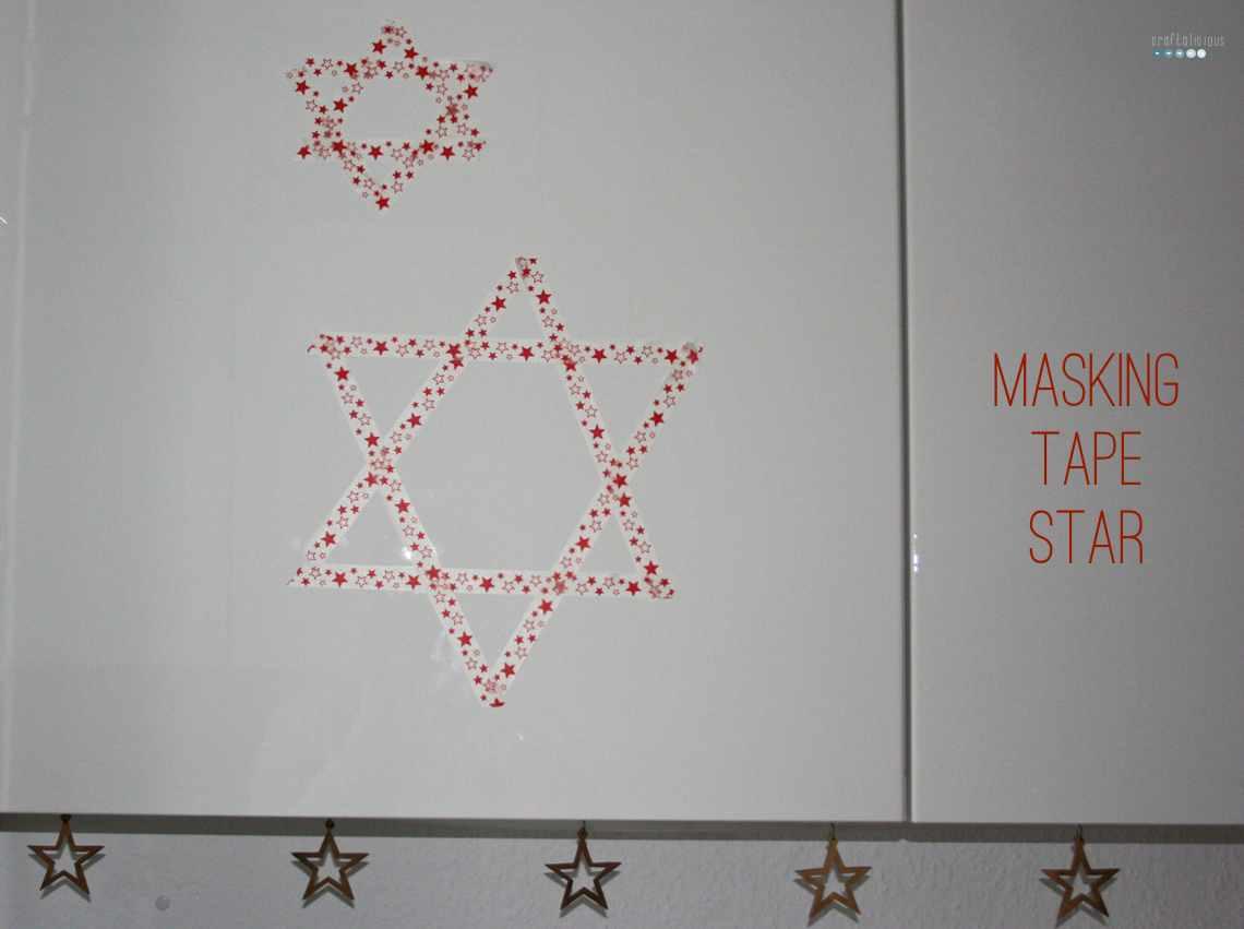 masking tape star