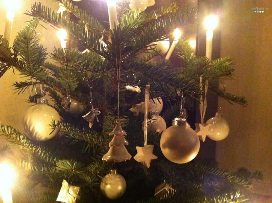 christmas tree white silver