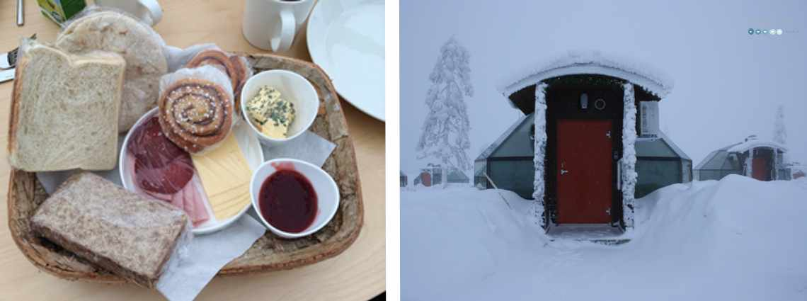 breakfast at glass igloo