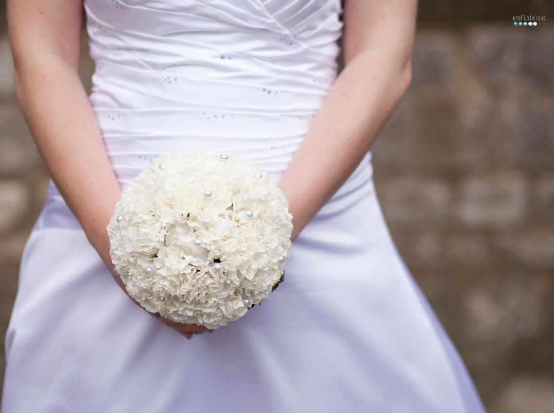 carnation bridal boquet