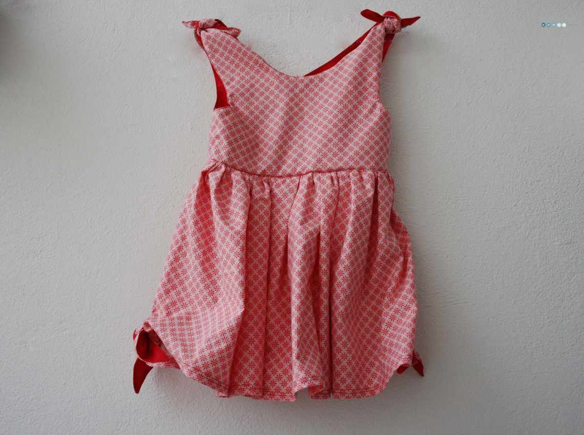 knot dress with tilda fabric