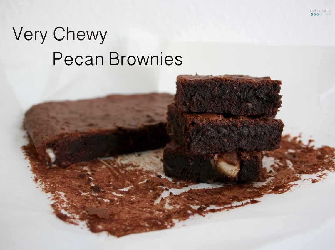 chewy pecan brownies