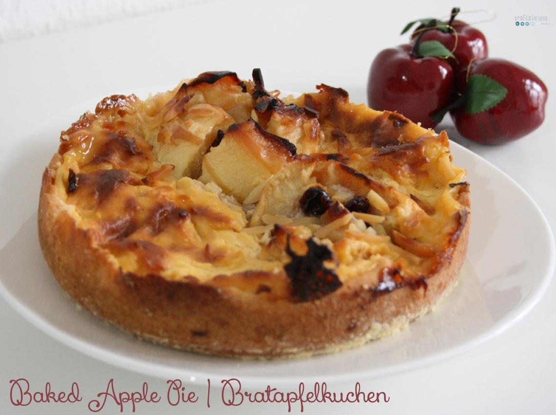 baked apple pie | bratapfelkuchen