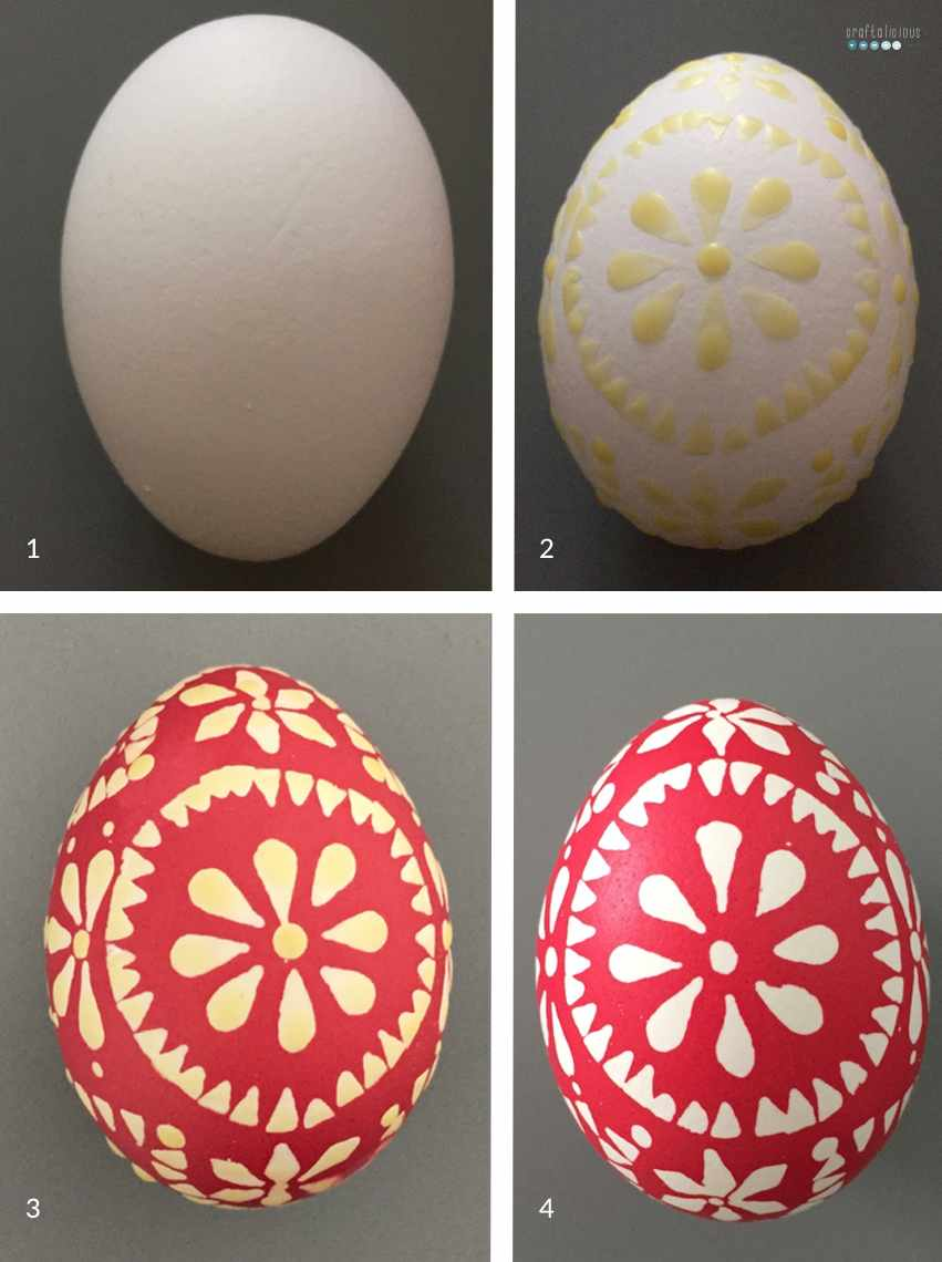 tutorial sorbian easter eggs 1 color
