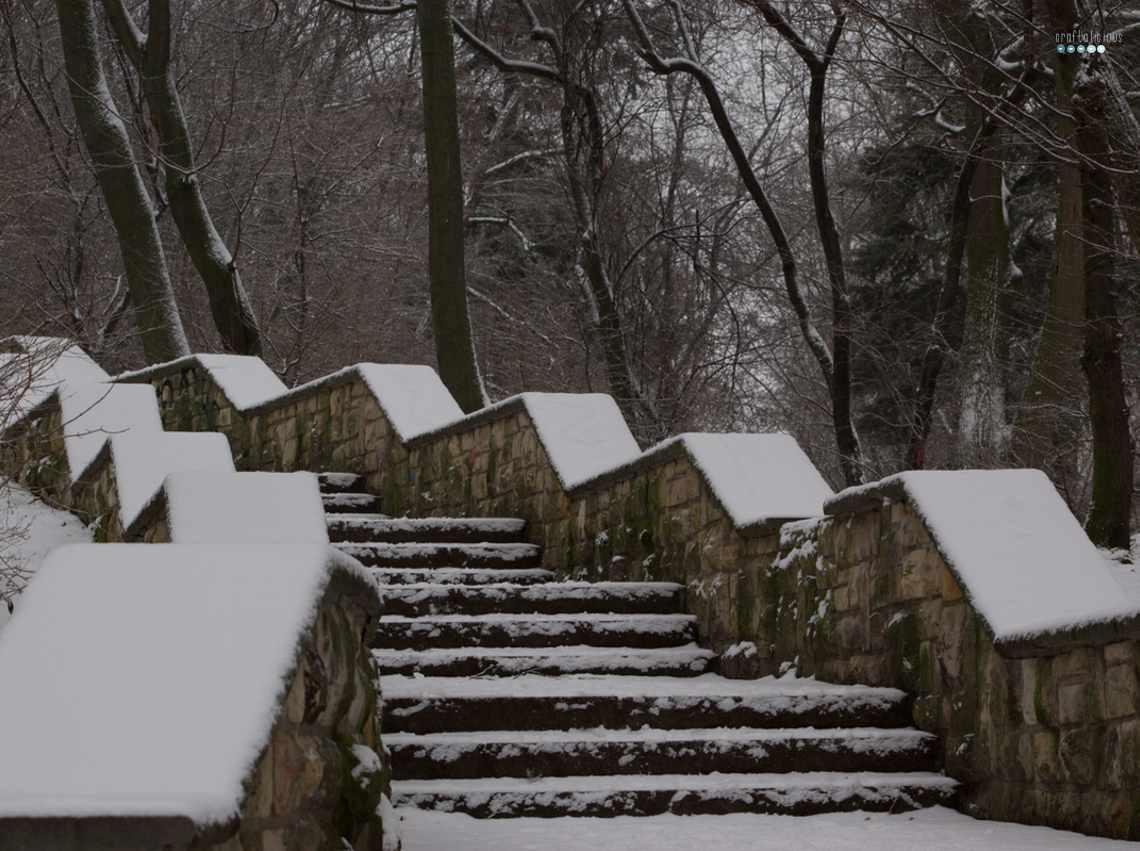 snowy stair pattern