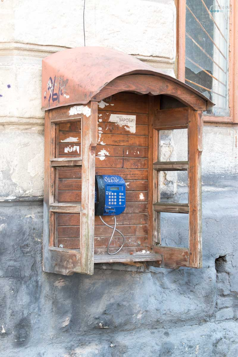 Weekend in Lviv phone booth