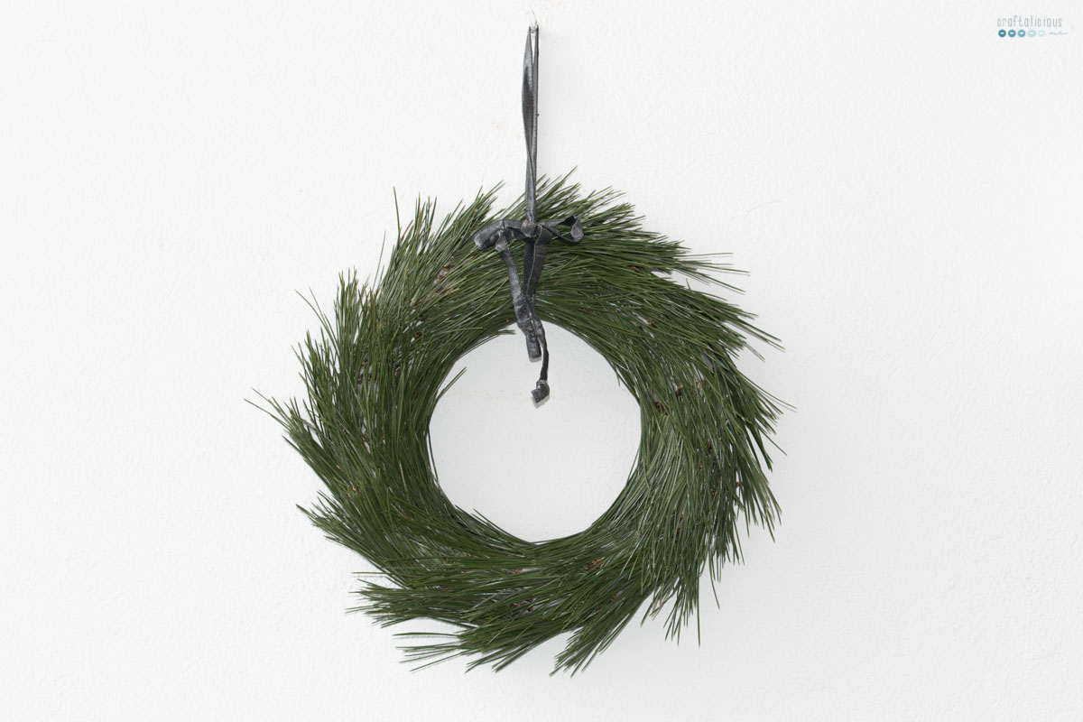 simple pine needle wreath | krank aus Tannennadeln
