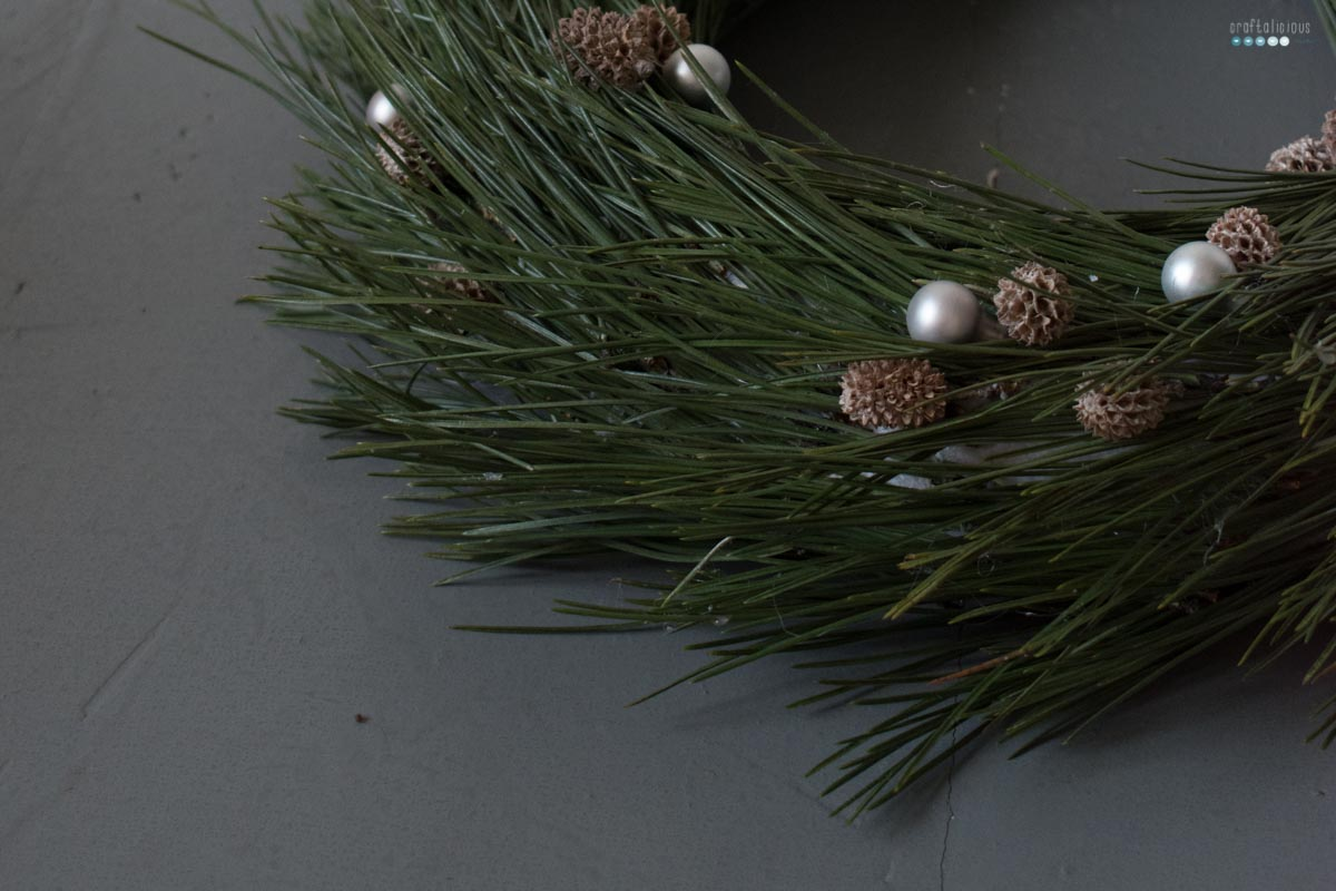 pine needle wreath | nadel advent kranz