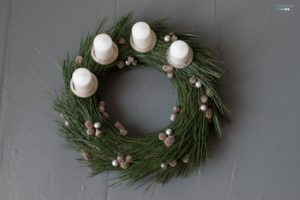 pine needle advent wreath | adventskrank aus nadeln