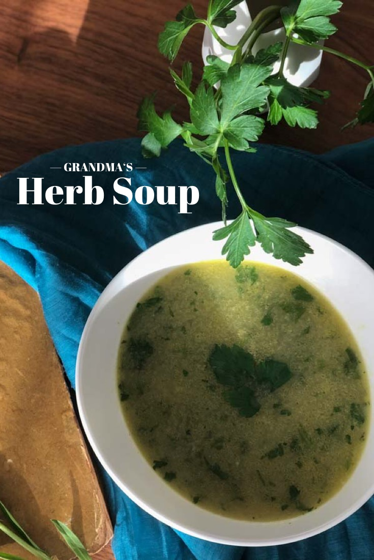 craftaliciousme seeking creative life Grandmas Herb Soup