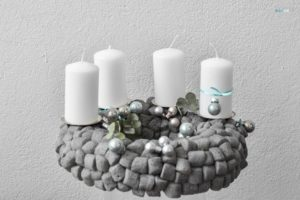 Recycling advent wreath in concrete finish craftaliciousme seeking creative life
