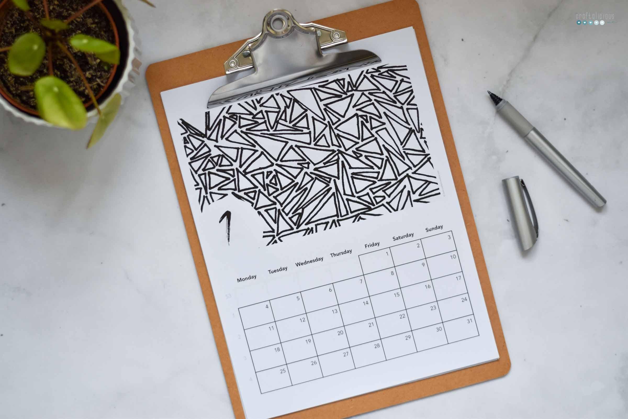 free printable pattern calendar craftaliciousme