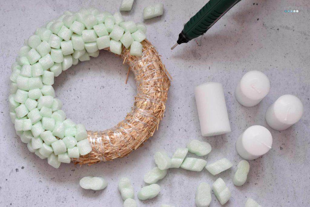 styropor recycling wreath craftaliciousme seeking creative life