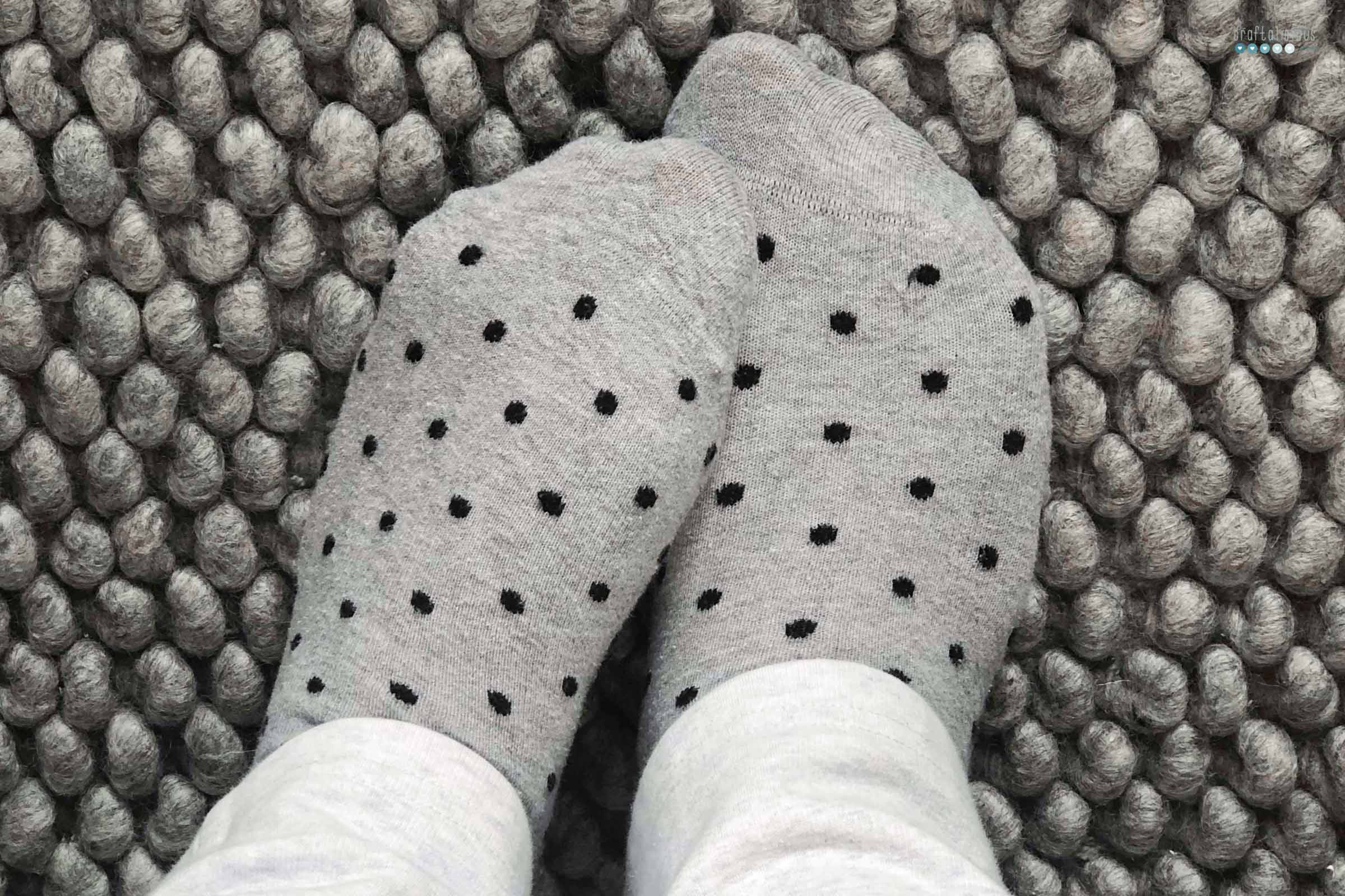 Polka dot socks craftaliciousme seeking creative life